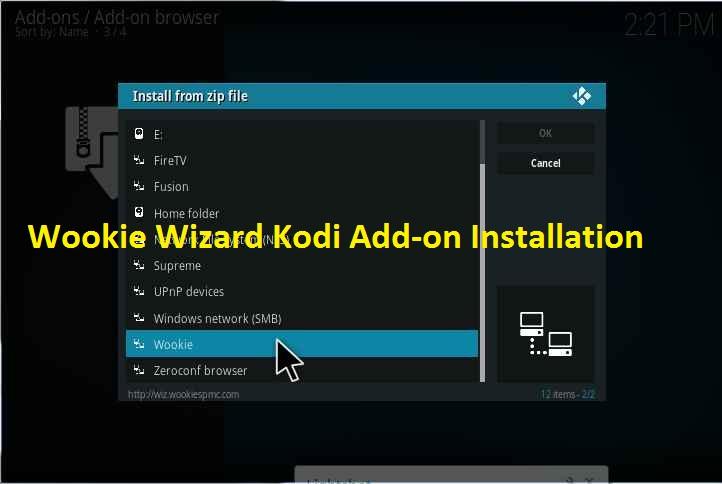 wookie wizard kodi installation