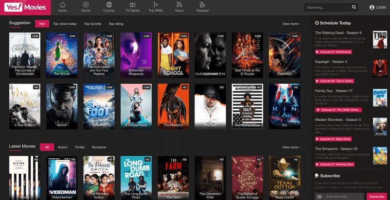 Yesmovies - Watch movies online without registration and its ...