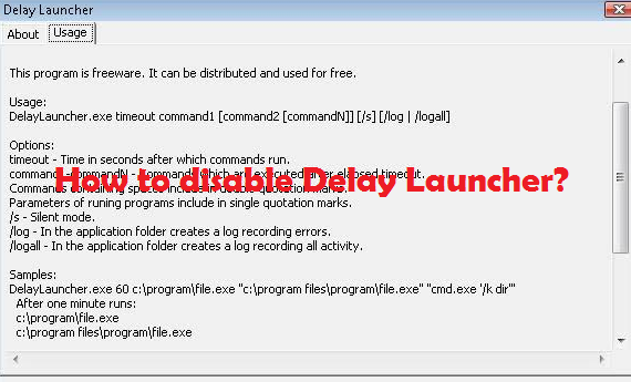 disable Delayed Launcher