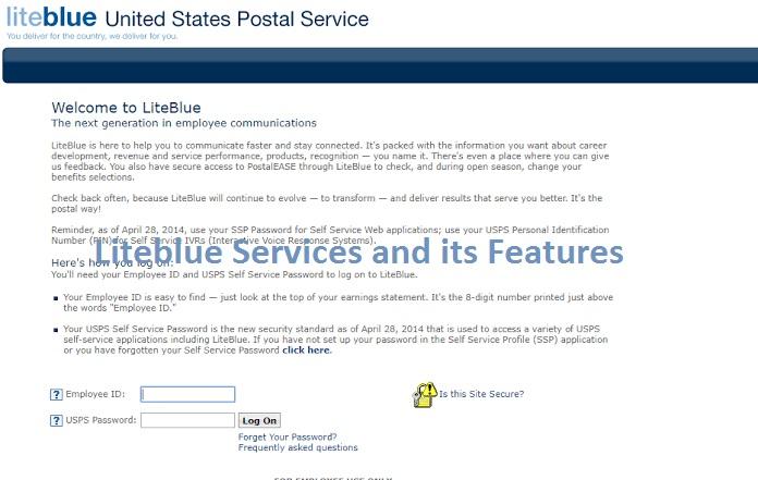 Liteblue services features