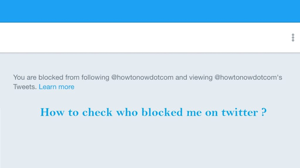 Check who blocked me on twitter