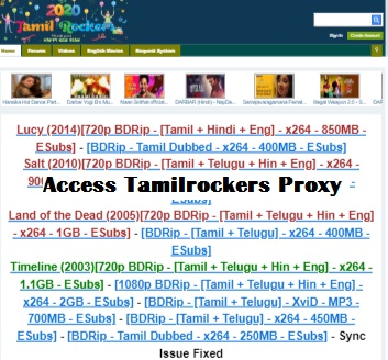 tamilrockers proxy site
