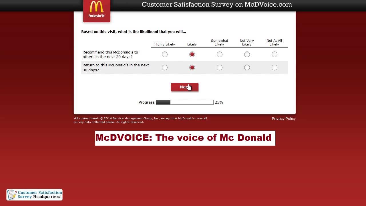 McDVOICE: The voice of Mc Donald