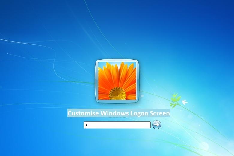 Customize windows logon screen steps